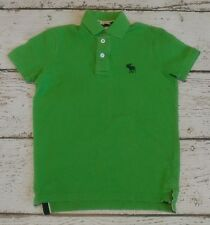 ABERCROMBIE KIDS Boys Lime Green Muscle Polo Short Sleeve M Medium EUC