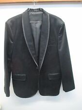 EUC Express Black One Button Tuxedo evening dinner Jacket Men's Size 44R Tux