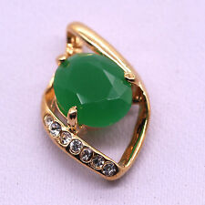 2017 Green Jade Zircon Pendant 18K Yellow Gold Plated Fashion Women  Jewelry