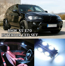BMW X5 E70 INTERIOR PURE WHITE FULL UPGRADE LED LIGHT BULBS ERROR FREE KIT