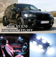 BMW X5 E70 INTERNI BIANCO PURO completo aggiornamento lampadine a LED Kit Privo Di Errori