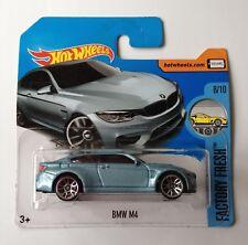 Hot Wheels BMW M4 - light blue metallic short card
