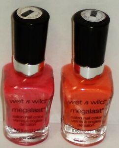 2 Shade WET N WILD MEGALAST Salon Nail Color CLUB HAVANA 211B & TROPICALIA 210C