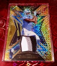 2017 Select Kenny Golladay GOLD💛MOJO Prizm Sparks RC PATCH #'d *10/10*
