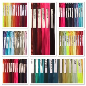 """50 COLOURS  14 inch"""" to 23 """" INVISIBLE-CONCEALED ZIP, Closed Ended Zip"""