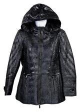 Burberry London Leather Trim Tech Jacket Black 10 Us 12 Uk