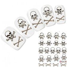 Nagel Sticker Tattoo Nail Art Totenkopf Knochen Skull Aufkleber Neu!