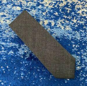 J.CREW Black Gray Bias Plaid Wool Slim Skinny Narrow Necktie Handmade in USA