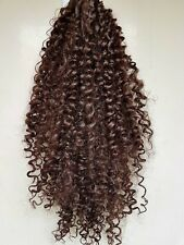 """Choc Brown #6 curly afro 24"""" long drawstring ponytail hair extension piece"""