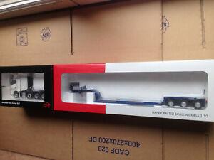 NZG 1/50 MERCEDES ACTROS SLT + REMORQUE PORTE-ENGIN NOOTEBOOM 3 essieux EURO-PX