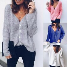 Womens Spotted V Neck Tops Ladies Casual Loose T Shirt Blouse Plus Size Tee