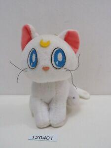 "Sailor Moon 120401 Artemis Cat Banpresto USED Plush 6"" Toy Doll Japan"