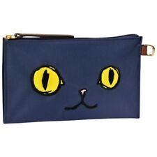 Longchamp Le Pliage Limited MIAOU Cosmetic Pouch Cat Navy Blue Handbag NEW