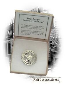 Texas Rangers Co. A Peso Back Badge 4,0 cm Western Cowboy Abzeichen Stern