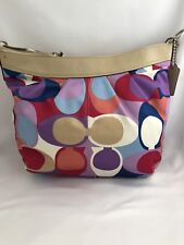 NWT HTF Authentic Coach Vintage Multicolor Hobo