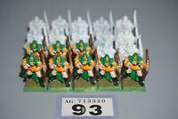 Warhammer Fantasy Age of Sigmar Wood Elves Glade Guard Warriors x 20 - LOT 93