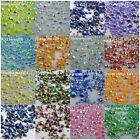500pcs 2mm-6mm jelly AB crystal resin round rhinestones flatback mix size glue
