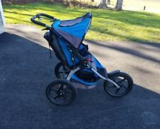 Bob Sport Utility Single Jogging Stroller in Blue & Grey Excellent Condition!