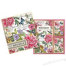 Michel Design Works Bridge Cards Gift Set, Peony - NEW