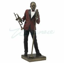 Male Singer With Trumpet Statue Figurine - Jazz Band Collection - New in Box
