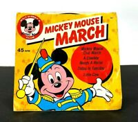 VTG Mickey Mouse March Walt Disney Club 45 RPM Vinyl
