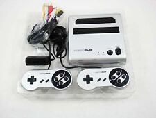 New Silver Retro Duo Twin Super Nintendo NES SNES Game Console System