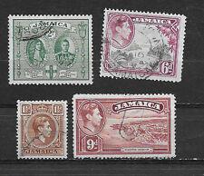JAMAICA , KING GEORGE VI, SET OF 4 , PERF , USED