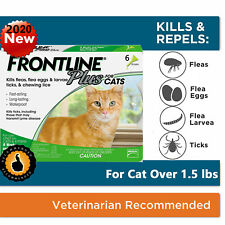 Frontline Plus Flea and Tick Treatment for Cats and Kittens - 6 Doses