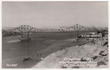 CROCKETT CALIFORNIA Carquinez Bridge RPPC RP Real Photo Postcard ZAN STARK