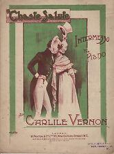 """ANTIQUE SHEET MUSIC - """"CHASTE SALUTE"""" - CARLILE VERNON - INTERMEZZO FOR PIANO"""
