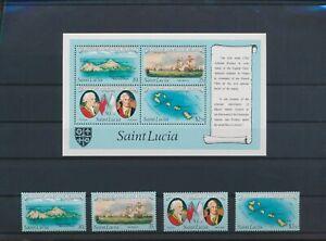 LO11809 St Lucia landscapes explorers navigation fine lot MNH