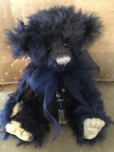 Charlie Bears PERIWINKLE 2011 Non UK Isabelle Mohair Collection FREE US SHIP