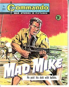 COMMANDO COMIC - No 335   MAD MIKE