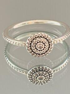 Genuine Pandora Silver Ring - CZ Radiant Classic Elegance Sz 56  #8/14