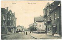 Ansichtskarte Bünde/Westfalen - Blick in die Bahnhofstrasse mit Geschäften 1913