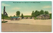 1953 Western Hills Motor Court, US Highway 60, Ashland, KY Postcard