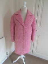 VGC TOPSHOP SOLD OUT NEON PINK WOOL OVERSIZE KNEE LENGTH COAT SIZE 8