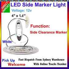 12v White Led Side Marker Tail Light Lamp Clearance Trailer Truck #Y0