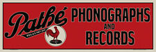 "36"" X 12"" Reproduced Pathe Phonographs & Records Canvas Banner"
