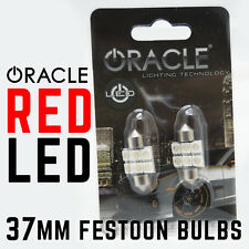 ORACLE 37MM (2x) 6 LED 3-Chip Festoon Bulbs 12-SMD Red LED Car Dome Light