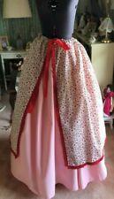 Civil War Colonial Prairie 2pc Skirt Overskirt 100% Cotton Costume Os reg/plus
