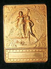 Medaille/Plaque Sport , Calais, signee Rasumny