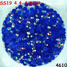3500pcs SS19 Blue AB Hot-fix Crystal Acryl Rhinestones Round Beads flatback