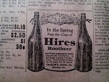 APRIL 25,1903 NEWSPAPER PAGE #N4693- IN SPRING PASS THE GLASS OF HIRES ROOTBEER