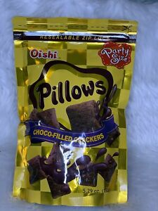 2pcs Oishi Pillows Choco-Filled Crackers Party Size 5.29 oz(150g)