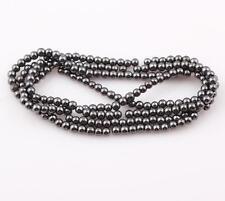 4mm MAGNETIC Hematite Round Beads (+/- 100)