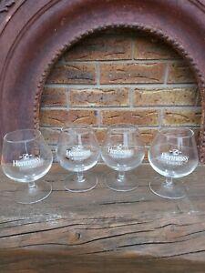 4 brandy Hennessy Cognac glasses