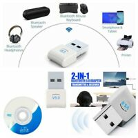 USB Dongle 5.0 Wireless Bluetooth 2 in 1 Adapter For Multi Device Connection aa