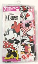 Disney Minnie Mouse 7 Pack Assorted Girls Panty Underwear Size 4