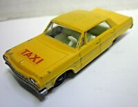 Vintage Lesney Matchbox Chevrolet Impala No. 20 Yellow Taxi Cab England Toy Car